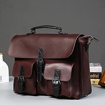 YKDDAA El maletín Bolsos de los Hombres Casual Vintage ...