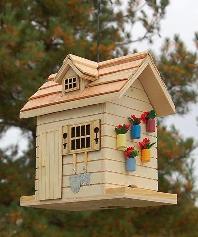 Home Bazaar Potting Shed Bird Feeder - Natural
