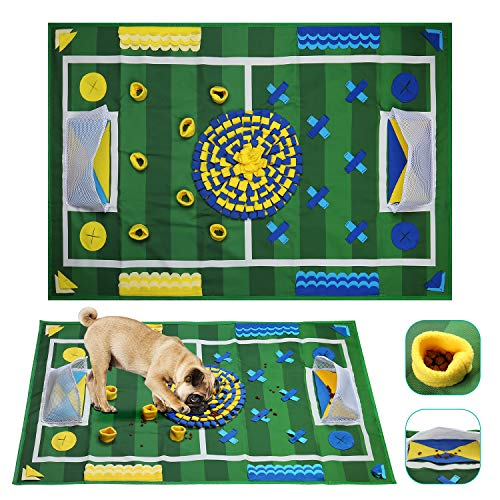 Anzone Sniffing Mat for Dogs Pet Nose Work Blanket Cats Non-Slip Snuffle Pad Pet Feeding Activity Training Blanket for Relieve The Stress