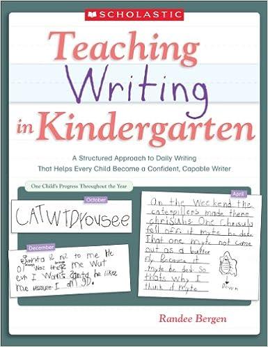 Amazon com: Teaching Writing in Kindergarten eBook: Randee