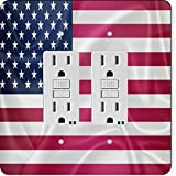 Rikki Knight 2675 Gfidouble United States of America Usa Flag Design Light Switch Plate