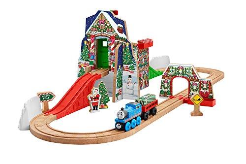Fisher-Price-Thomas-the-Train-Wooden-Railway-Santas-Workshop-Express-Amazon-Exclusive