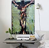 Handmade Abstract Jesus Figure Painting On Canvas Impression Jesus Canvas Painting