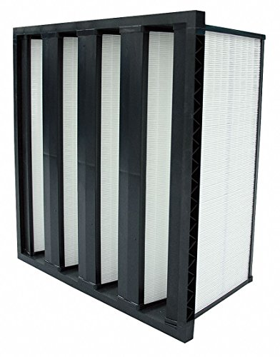 24x24x12 Fiberglass V-Bank Air Filter with MERV16 and 98% Filter Efficiency