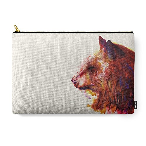 "Society6 Grizzly Carry-All Pouch Large (12.5"" x 8.5"")"
