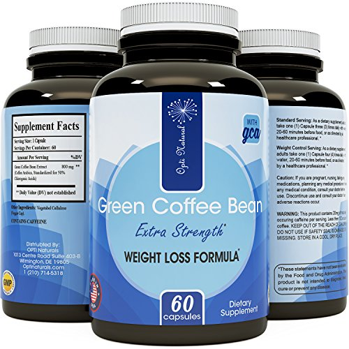 Natural Green Coffee Bean Extract Dietary Supplement - Helps Boost Metabolism Burn Fat Curb Appetite and Promotes Weight Loss - Rich Antioxidant Help Detox and colon cleanse - 800mg Capsules