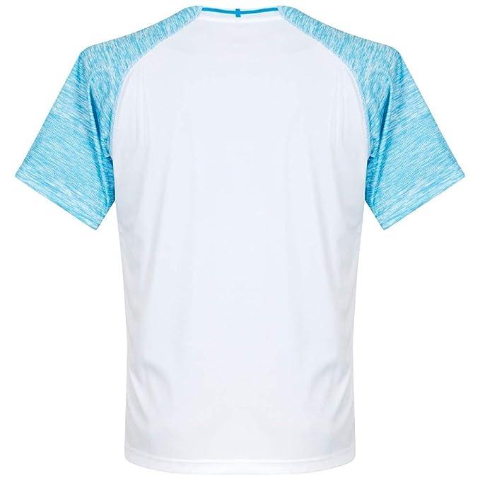 Puma - 753542 - Maillots - Homme - Blanc (Puma White Bleu Azur) - Taille   L  Amazon.fr  Sports et Loisirs f456d2ff6e1e