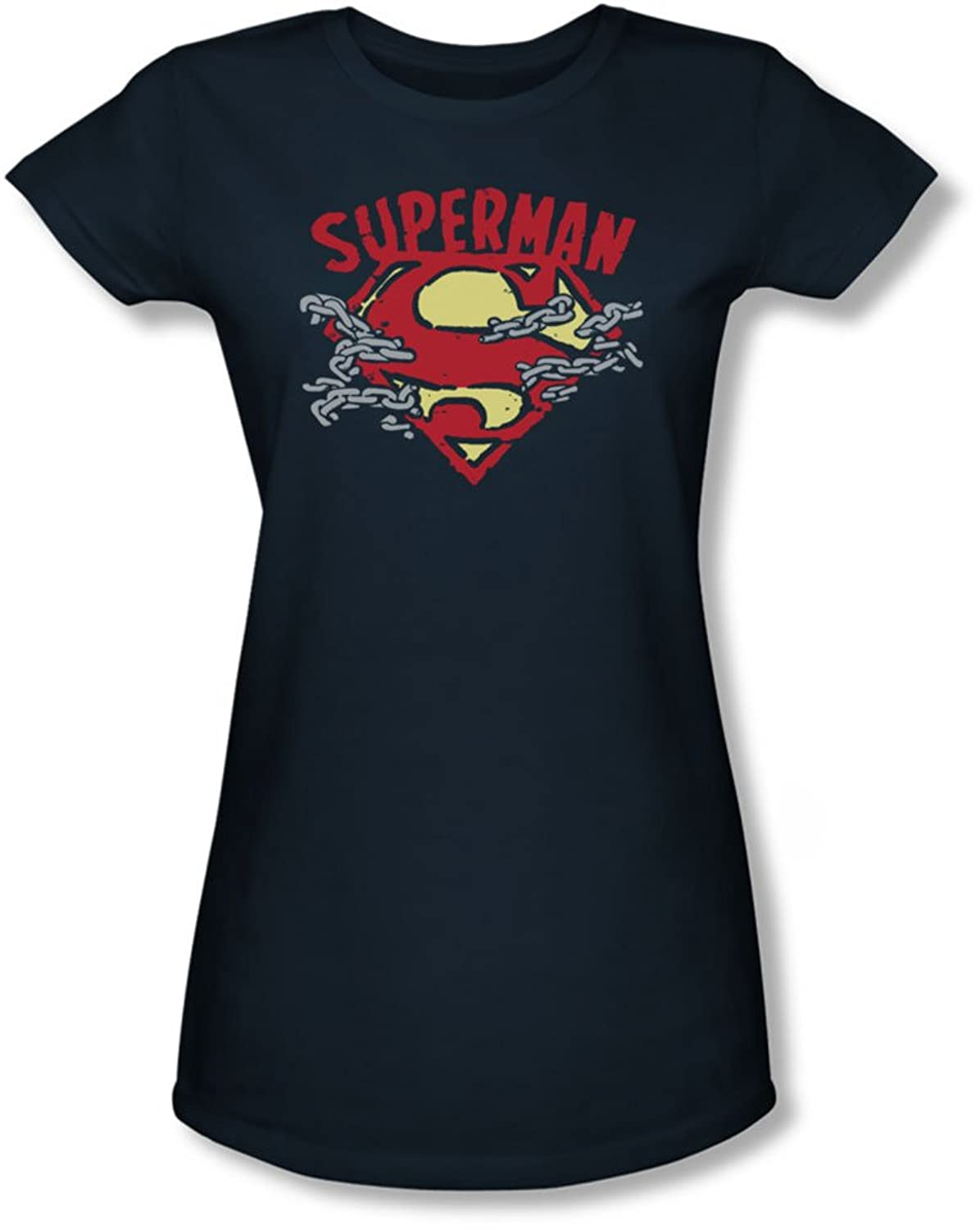 Superman Juniors Chain Breaking Sheer T Shirt