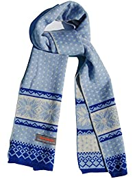 Kids Winter Scarf for School Boys Girls - Soft, Wool & Acrylic by Wee Dreamers (blue)