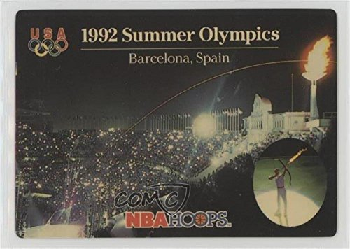 1992 Summer Olympics (Barcelona, Spain) (Basketball Card) 1992-93 NBA Hoops - [Base] - Olympic Summer Is Basketball A Sport