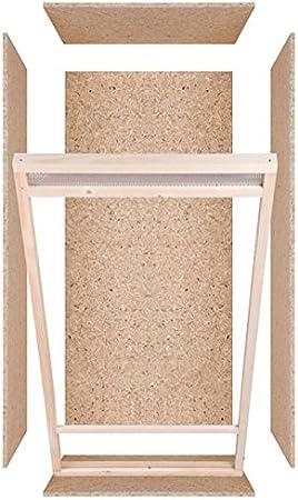 repi Terra de alto Terrario de madera 60 cmx120cmx60 cm con ventilación frontal de tableros OSB con vidrio flotado: Amazon.es: Productos para mascotas