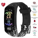Fitness Tracker, Bluetooth Smart Bracelet ECG+PPG Blood Pressure, Heart Rate ZEERKEER IP67 Waterproof