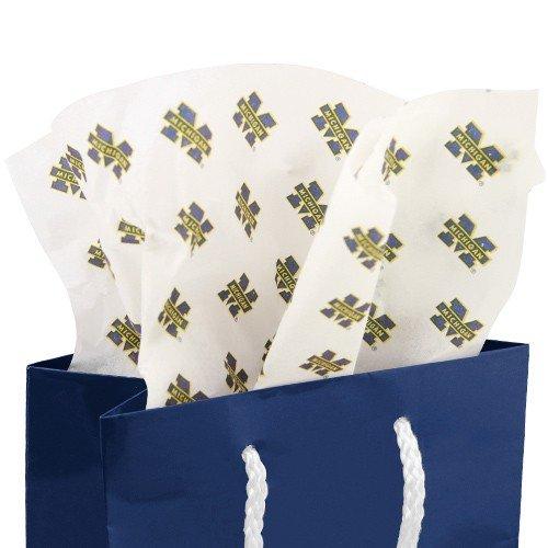 (NCAA Michigan Wolverines White Team Logo Print Tissue Paper)
