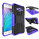 J3 Case, Express Prime Case, Amp Prime Case, MCUK Heavy Duty Rugged Dual Layer - Soft/Hard Shell 2 in 1 Tough Protective Case with Kickstand for Samsung Galaxy J3 / Express Prime / Amp Prime (Purple)
