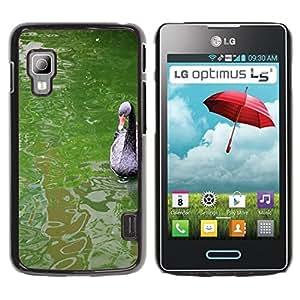 hello-mobile Etui Housse Coque de Protection Cover Rigide pour // M00137349 Animal lago de los cisnes Negro Agua // LG Optimus L5 II Dual E455 / E460