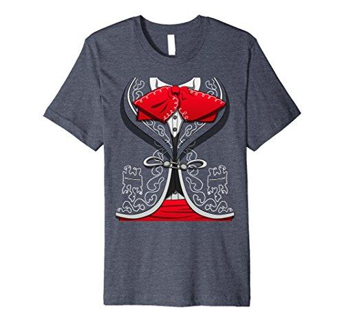 Costume Mariachi Ideas (Mens Day Of The Dead Costume Dia de los Muertos Mariachi T-Shirt 3XL Heather)