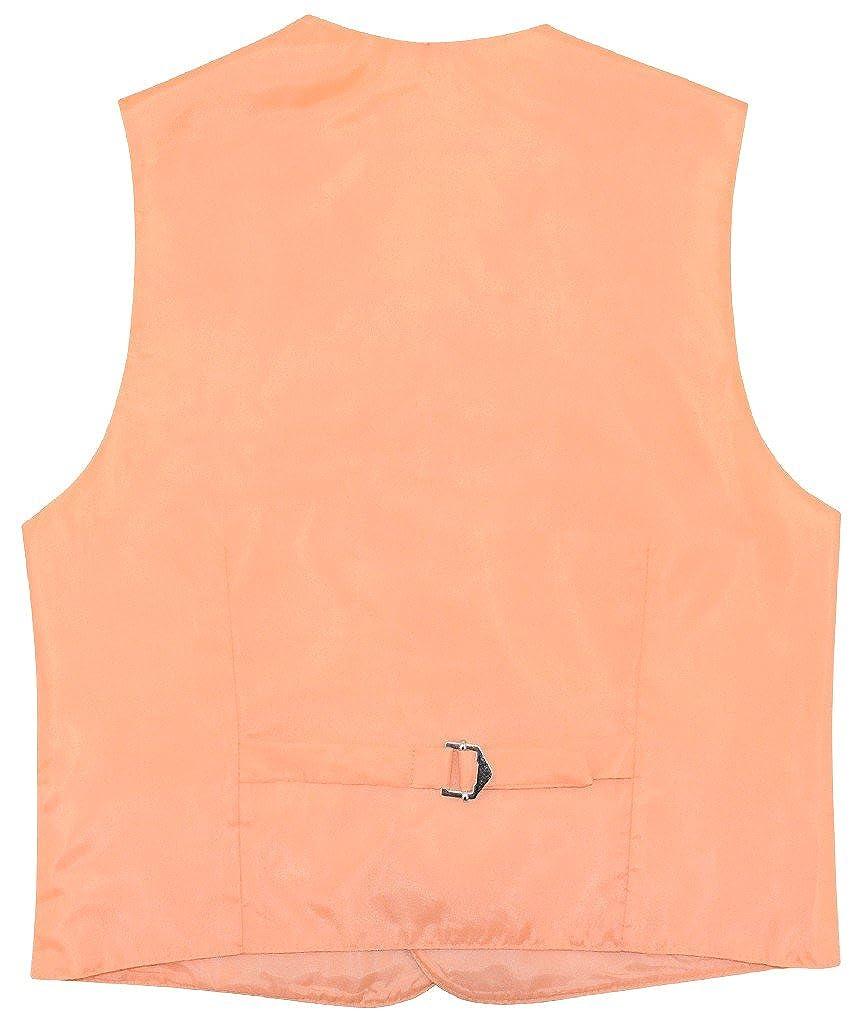 Boys Dress Vest /& Necktie Solid Peach Color Neck Tie Set
