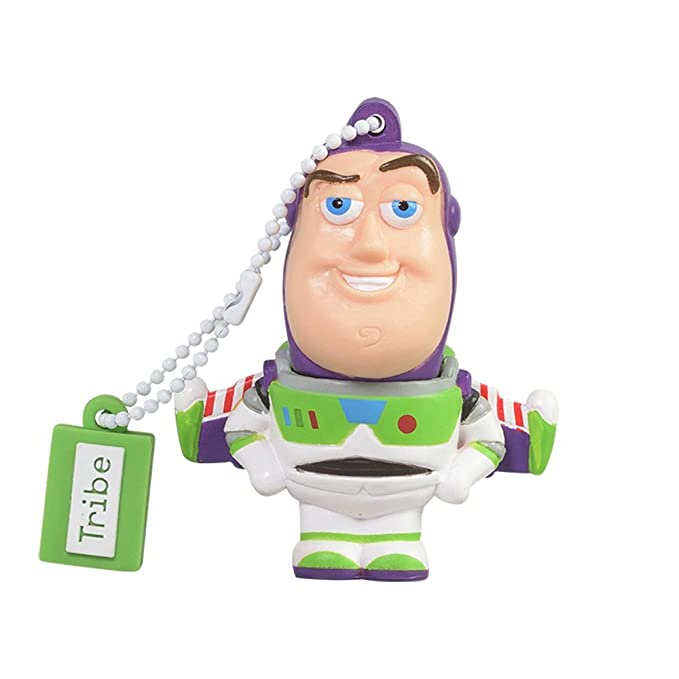 Tribe Disney Pixar Toy Story Buzz Lightyear - Memoria USB 2.0 de 8 GB Pendrive Flash Drive de Goma con Llavero