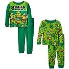 Teenage Mutant Ninja Turtles Little Boys' Ninja Academy 4-Piece Pajama Set, Green, 2T