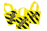 Construction Birthday Party Supplies: Ready-To-Use Favor & Decoration Set - (12) Plastic Construction Hats, (12) Construction Zone Tote Bags, (72) Tattoos, (12) Slap Bracelets, (1) Table Cover