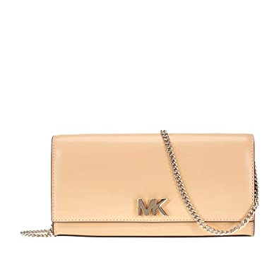02baeb2f4804 MICHAEL Michael Kors Mott Large Leather Chain Wallet - Pale Gold/Butternut