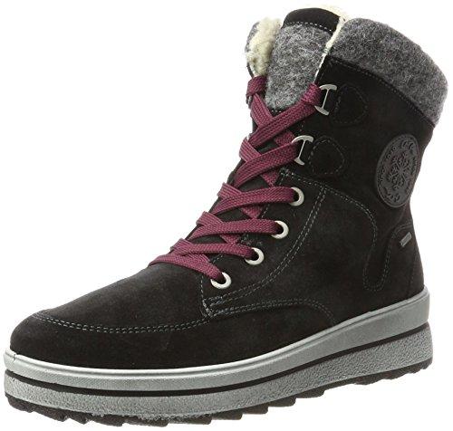 ara Women's St. Anton-STF-Gore-Tex Snow Boots, Ozean,Blau Black (Schwarz,grau 68)