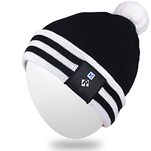 Qshell Stylish LED Bulb Light Up Beanie Hat Knit Cap Pom Pom Twinkle Lights 18 LEDs for Men Women Indoor and Outdoor, Festival, Holiday, Celebration, Parties, Bar, Christmas Gifts - (Blinking Led Sports Caps)