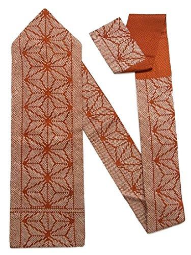海洋の拳工業用リサイクル 名古屋帯 鹿の子絞り 麻の葉文 正絹