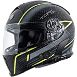Torc T14B Blinc Loaded Scramble Mako Full Face Helmet (Hi Viz Yellow with Graphic,