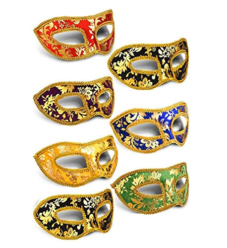 Ru S 7pcs Set Mardi Gras Half Masquerades Venetian Masks Costumes Party Accessory