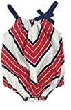 Pink Chicken Baby Girls' Sailor Bubble, Red, White,/Blue Chevron, 6/12 Months