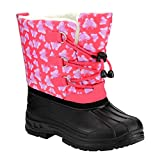 JELLY BEANS FG15 Girl's Toddlers Bungee Lacing Snow Winter Boots, Color:CORAL MULTI, Size:10 M US Toddler