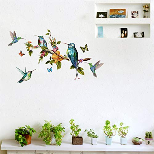 SUJING Color Butterfly/Branch/Bird Waterproof Removable Wall Stickers Mobile Creative Wall Affixed With Decorative Wall Window Decoration Living -