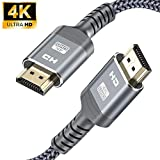 4K HDMI Cable,Highwings 2M/6.6FT High Speed 18Gbps HDMI 2.0 Braided Cord-Supports