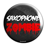 Geek Details Band Themed Pinback Button (Saxophone Zombie)