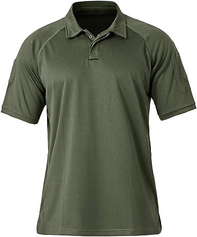 TACVASEN Men's Polo Shirts Short Sleeve Summer Quick-Dry Golf Polo T-Shirts