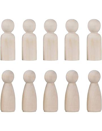 Toyvian Pequeños muñecos de Madera para Hombre, muñecos de Graffiti, Juguetes de Marionetas,