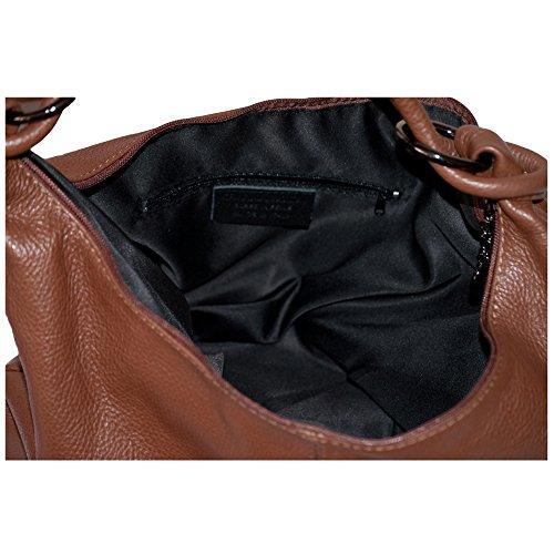 for Leather Leather Bag Bag Handbags Slouchy Brown Brown Bags Bags Genuine Shoulder Women Italian DAZORIGINAL wXSqzP