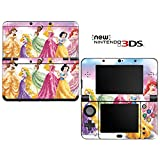 Princess Friends Sparkle Belle Rapunzel Tiana Decorative Video Game Decal Cover Skin Protector for New Nintendo 3DS (2015 Edition)
