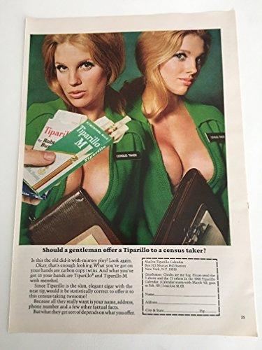 1968 Tiparillo Census Taker Magazine Print Advertisement
