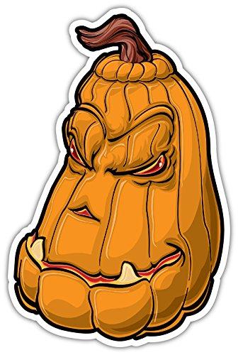 (5 Piece Set |Pumpkin Scary Halloween Cool Decoration Skateboard Helmet Laptop Car Sticker Decal 3x5)