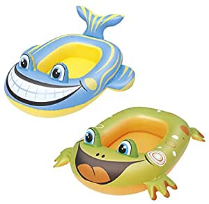 Bestway-34085 Barca Hinchable Animales, Color Azul, Verde (34085000)