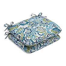 Pillow Perfect Outdoor/Indoor Zoe Mallard Rounded Corners Seat Cushion (Set of 2)