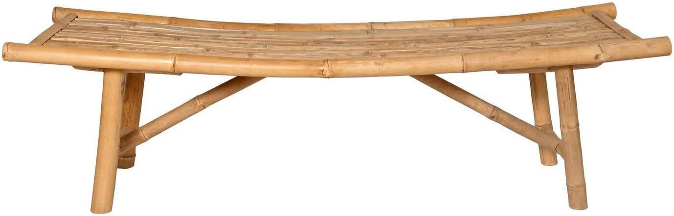 "Outdoor Bench   Japanese Zen Design   Garden Furniture   Natural Bamboo Asahi Bench   59""x18""x18"""