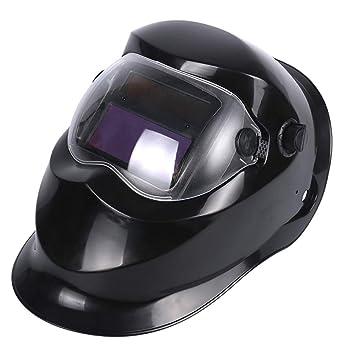 MTSBW Negro Ajustable Auto Oscurecimiento Solar Soldadura Solar Máscara CE Certificación ANSI Soldador Máscara Arco TIG Mig Capucha: Amazon.es: Deportes y ...