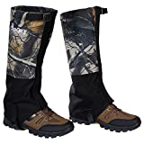 Hpory 1 Pair Hiking Leg Gaiters, Snow Boot Gaiters, Breathable Waterproof Walking High Leg Cover, 600D Anti-tear Oxford Cloth, for Outdoor Research Climbing Fishing Hunting Trimming Grass (Camouflage)