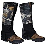 Hpory 1 Pair Hiking Leg Gaiters, Snow Boot Gaiters, Breathable Waterproof Walking High Leg Cover, Anti-tear Oxford Cloth, for Outdoor Research Climbing Fishing Hunting Trimming Grass (Camouflage) 600D