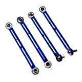 Atomik RC Alloy Front Rear Adjustable Toe Link - Blue fits the Traxxas 1 16 Slash 4x4 and Other Traxxas Models - Replaces Traxxas Part 7038
