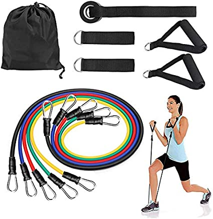 FAST SHIP-Ruber Loop Strength Resistance Bands Pilates Fitness Equipment at Home