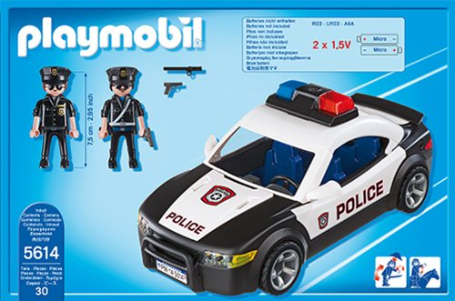 amazoncom playmobil police car vehicle toys games - Playmobile Police